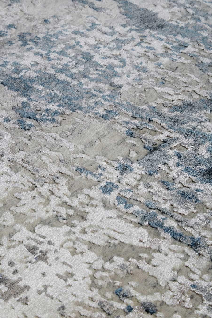 detailed image of textural Glacier rug
