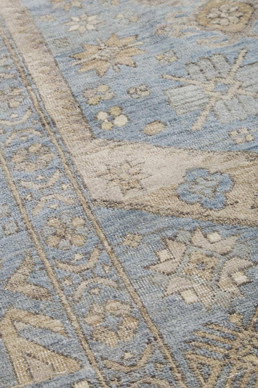 Detailed image of blue Ibiza rug