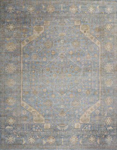 Overhead image of blue Ibiza rug