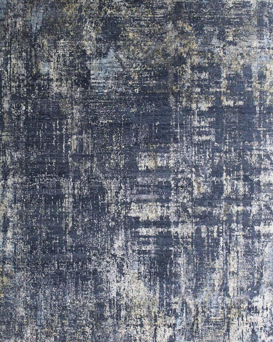 Product image of distressed Lamancha rug in navy blue colour
