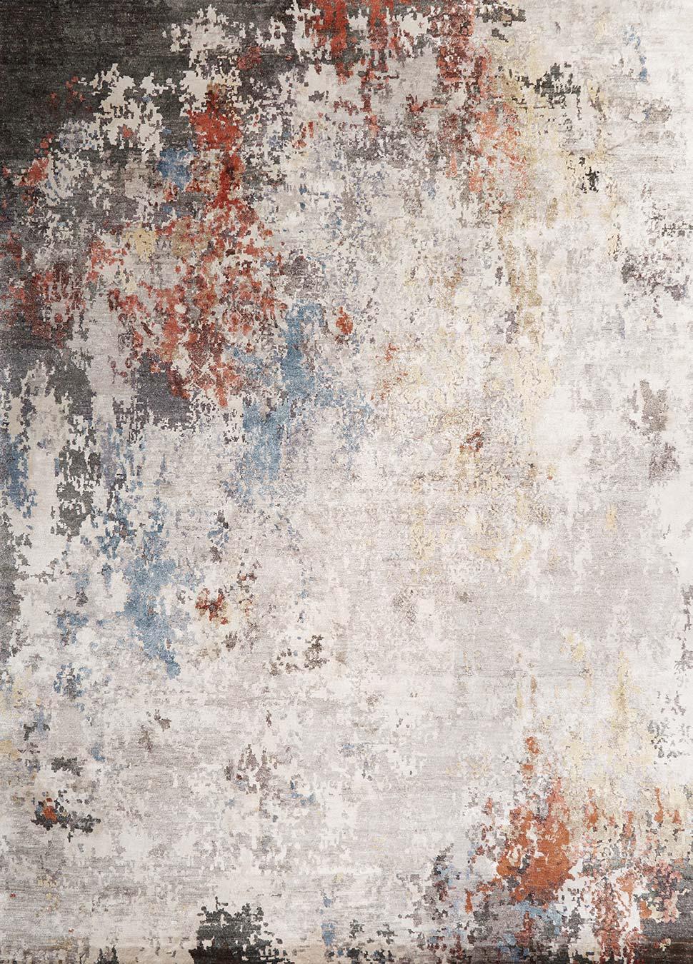 Overhead image of distressed Malaga rug