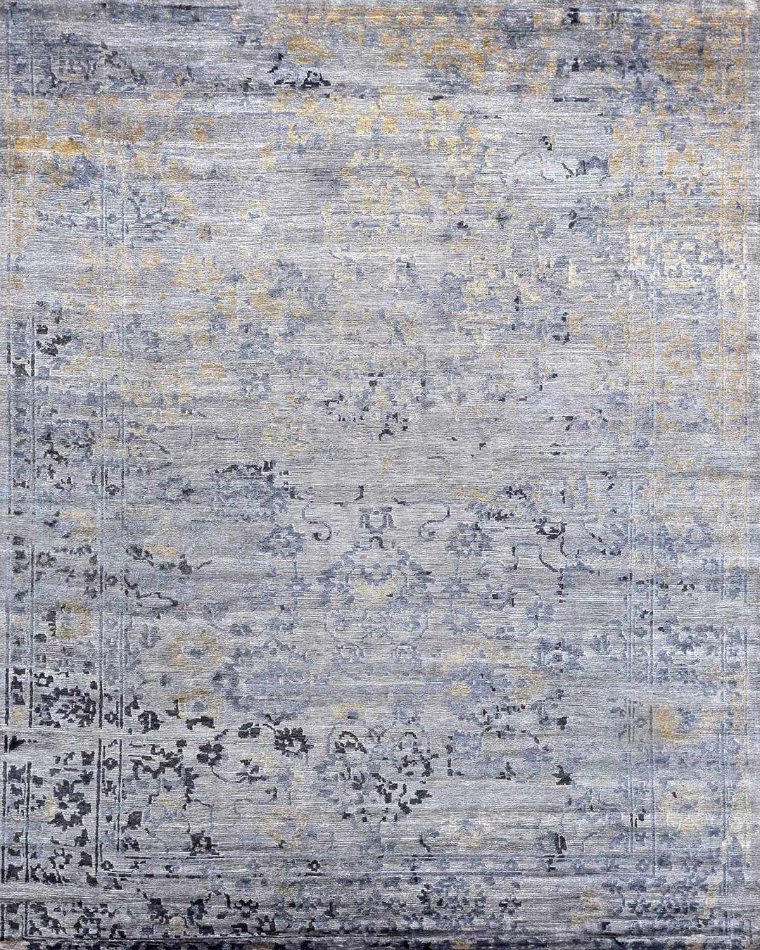 Product image of traditional Midnight Garden rug in light blue colour