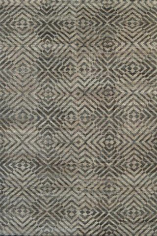 Overhead view of geometric Modern Geo rug in beige colour