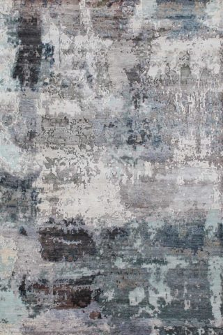 Product image of distressed Mykonos rug in grey colour