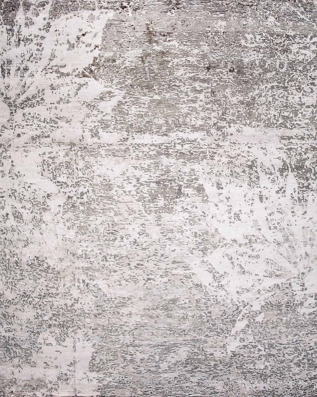 Product image of distressed Relic rug in silver colour
