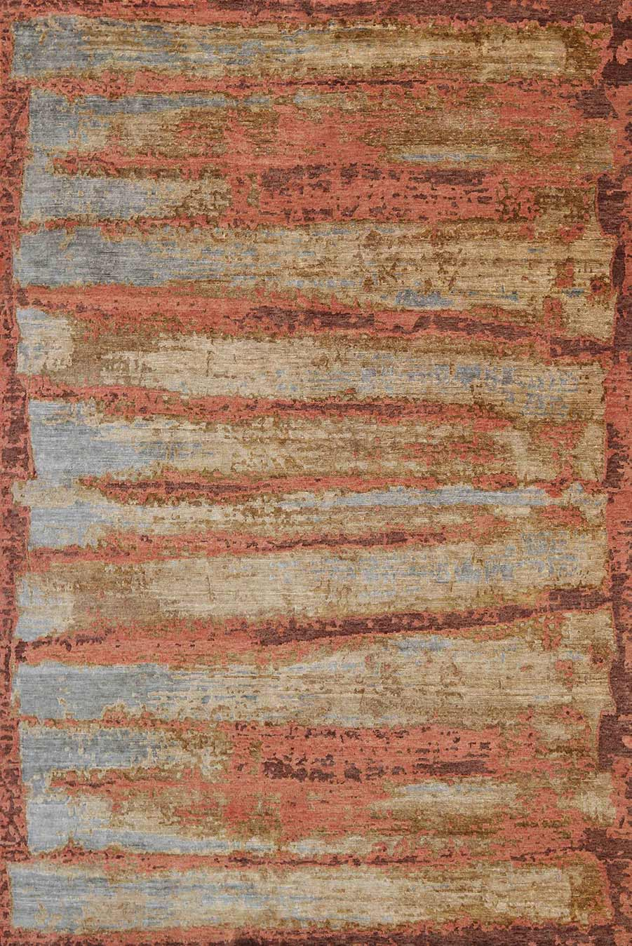 Product image of abstract Russet rug in orange colour