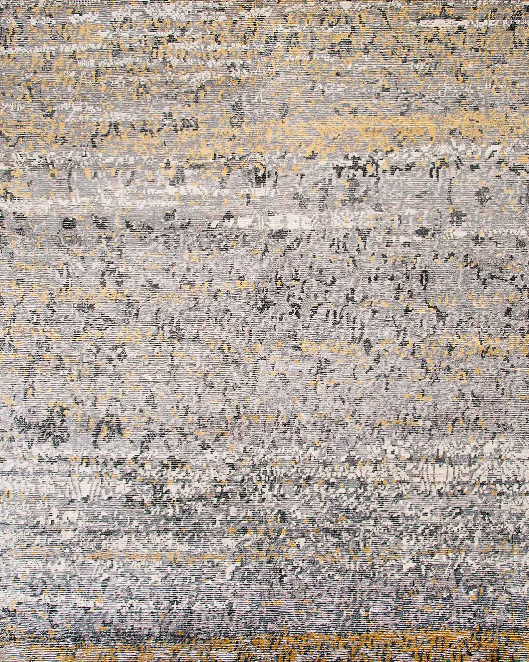 Overhead view of textured Siena rug in beige colour