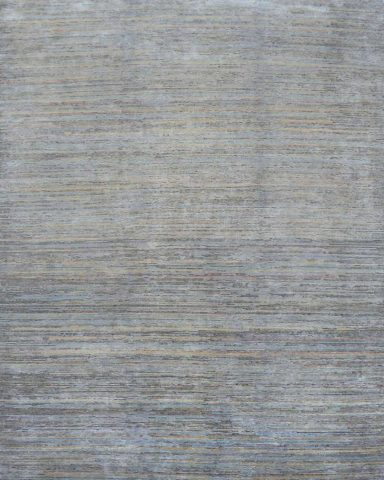 Overhead image of textured Static rug in grey