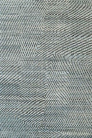 Overhead view of modern Twill rug in blue colour