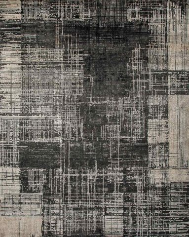Product image of distressed Urban rug in charcoal colour