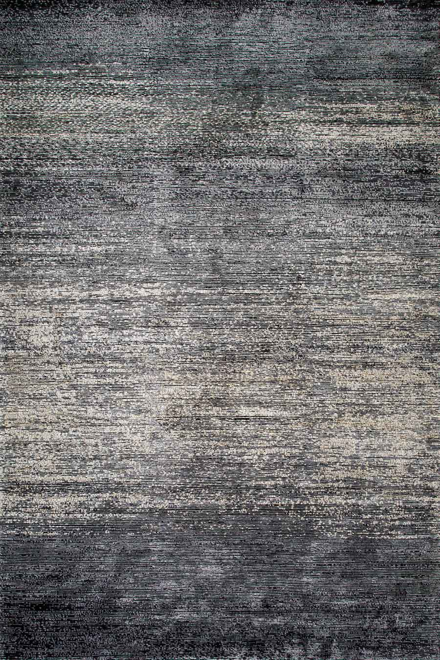 Overhead image of textured Velocity rug in charcoal colour