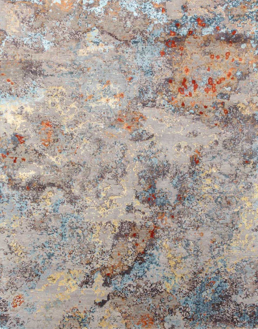 Product image of abstract Venus rug in grey and blue colour