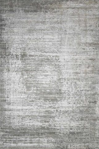 Overhead image of textural Wallace rug in silver colour
