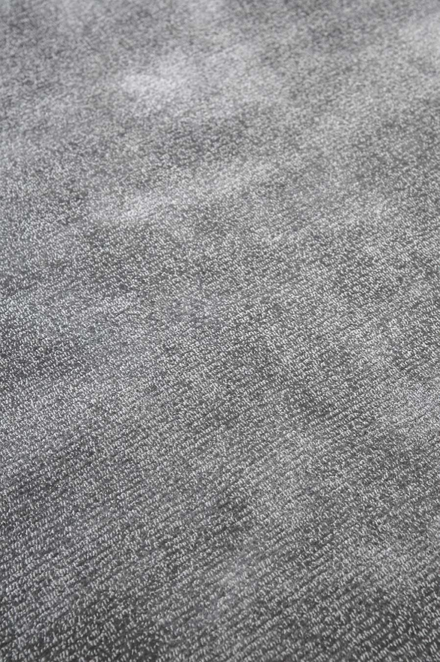 Close up view of textured Carlton rug in grey colour