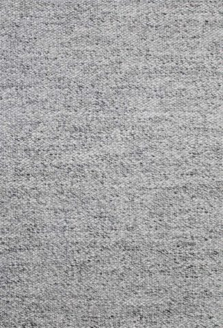Overhead view of textured Cocos rug in grey colour