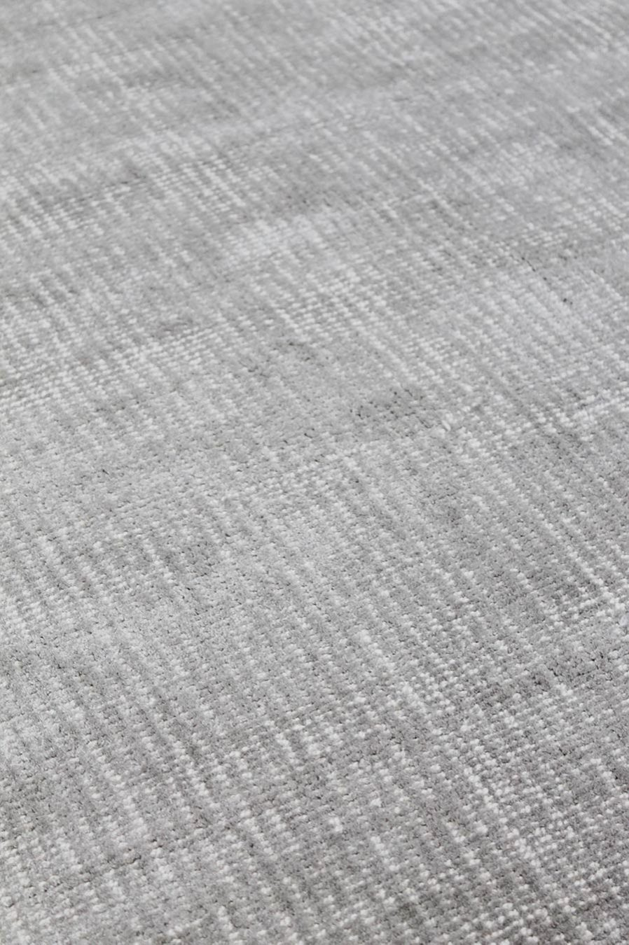 Close up view of textured Colorado rug in silver colour