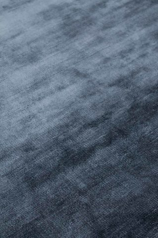 Close up view of metallic Glam rug in navy blue colour