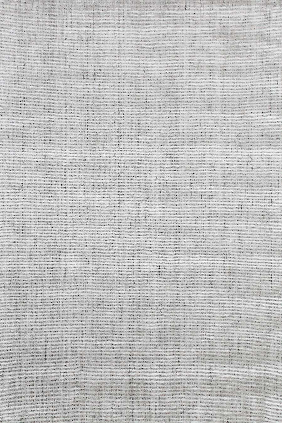 Overhead image of textured Gomez rug in light grey colour