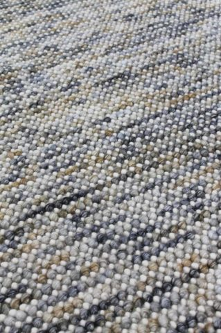 Close up view of textured Marble rug in grey and beige colour
