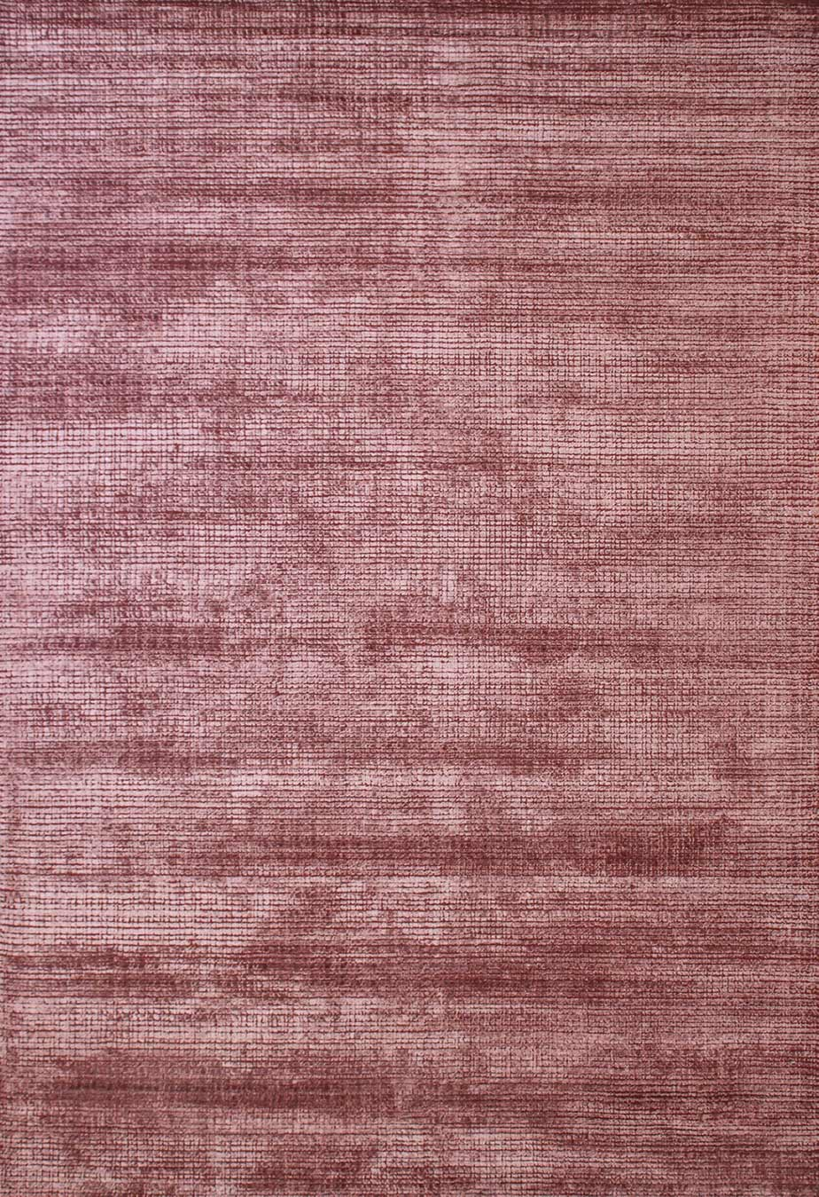 Overhead view of textured Molten rug in red colour