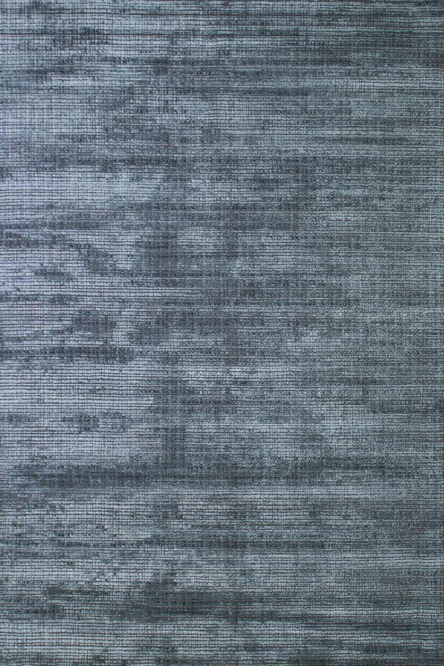 Overhead view of textured Molten rug in blue colour