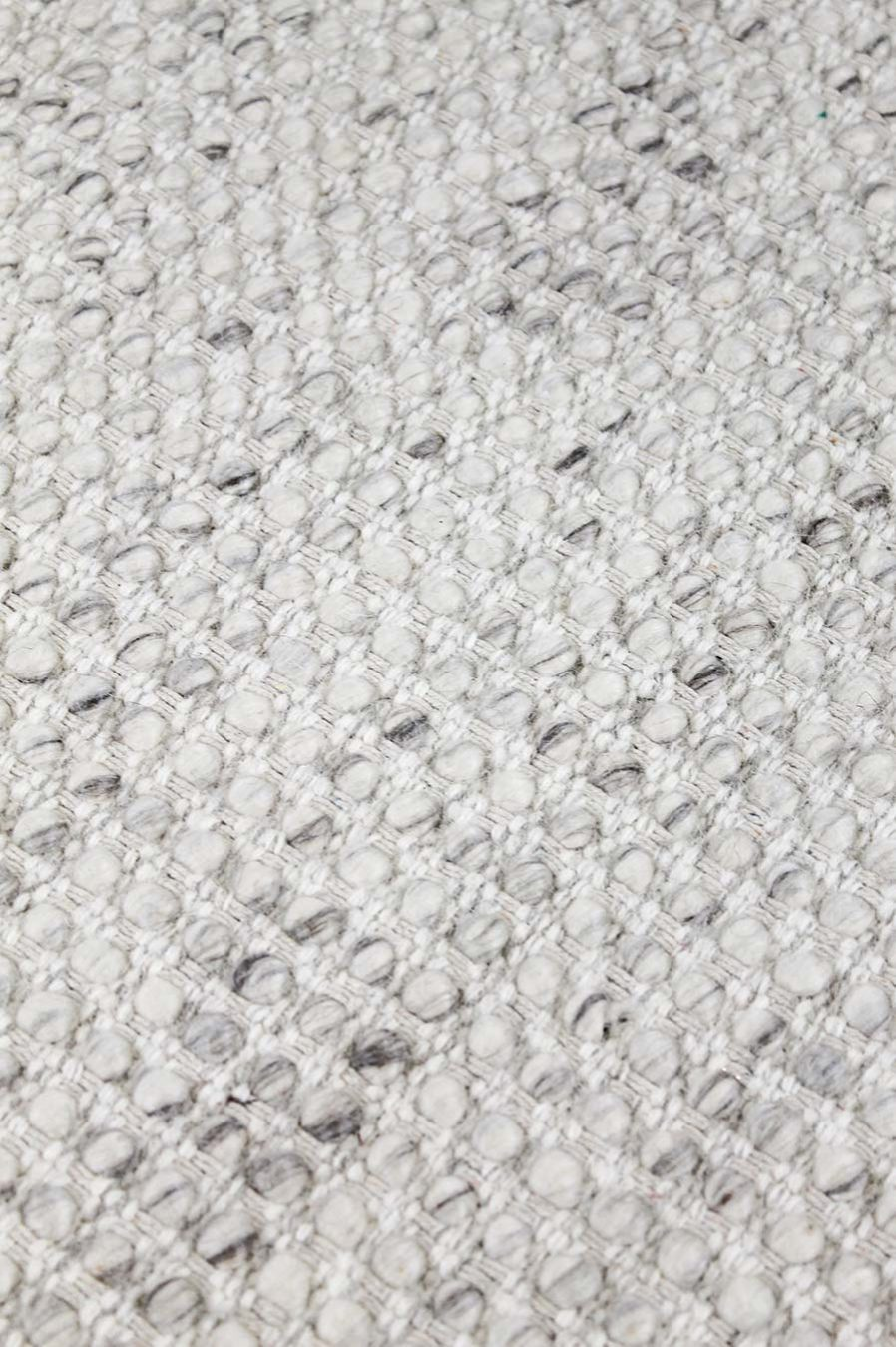 Detailed view of textured Nagoya rug in grey colour