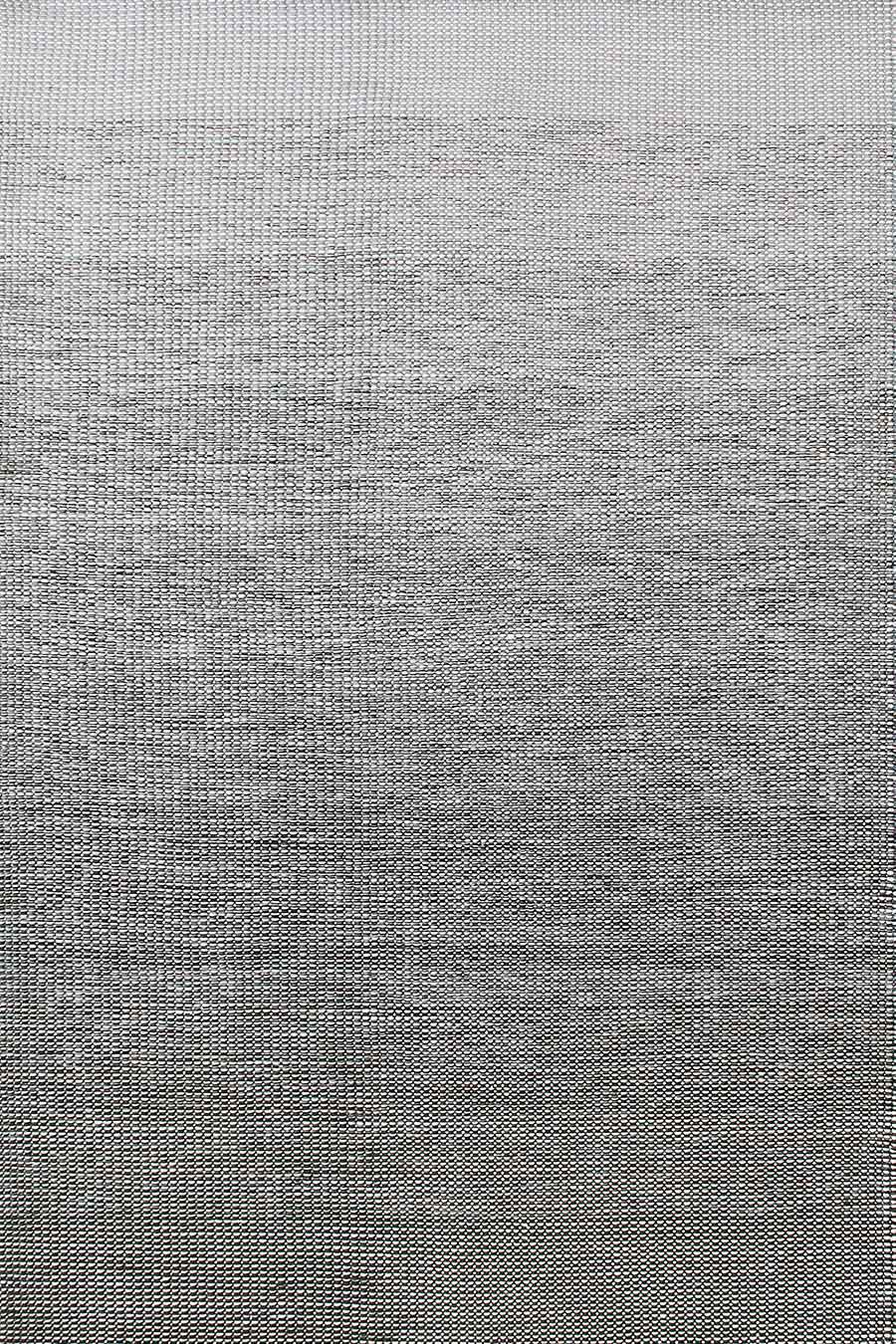 Overhead image of gradient Plait Ombre Thunder rug in grey