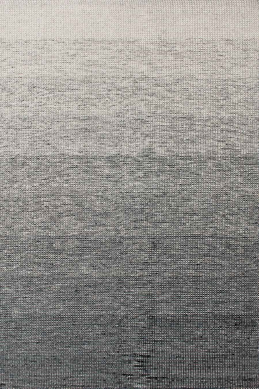 Overhead image of gradient Plait Ombre Thunder rug in brown