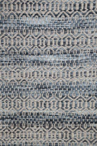 Detailed image of textured Plait Tempest rug in blue colour