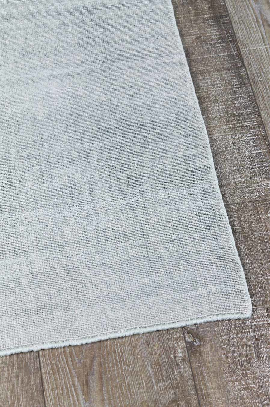 Detailed view of textured Rapture rug in mint grey colour