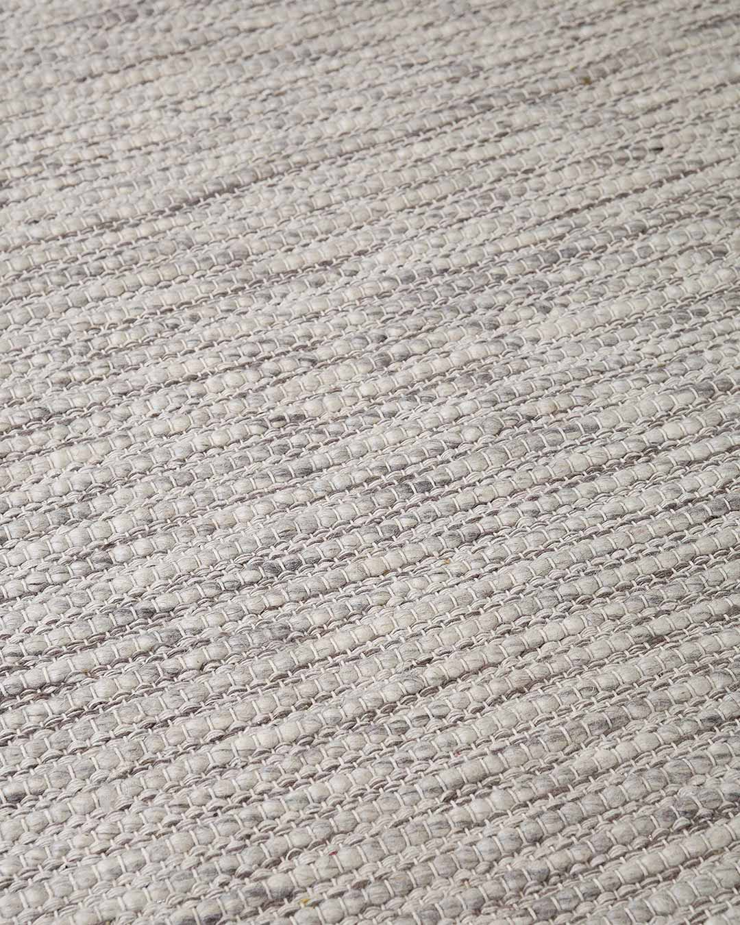Detailed view of textured Stylo rug in grey colour