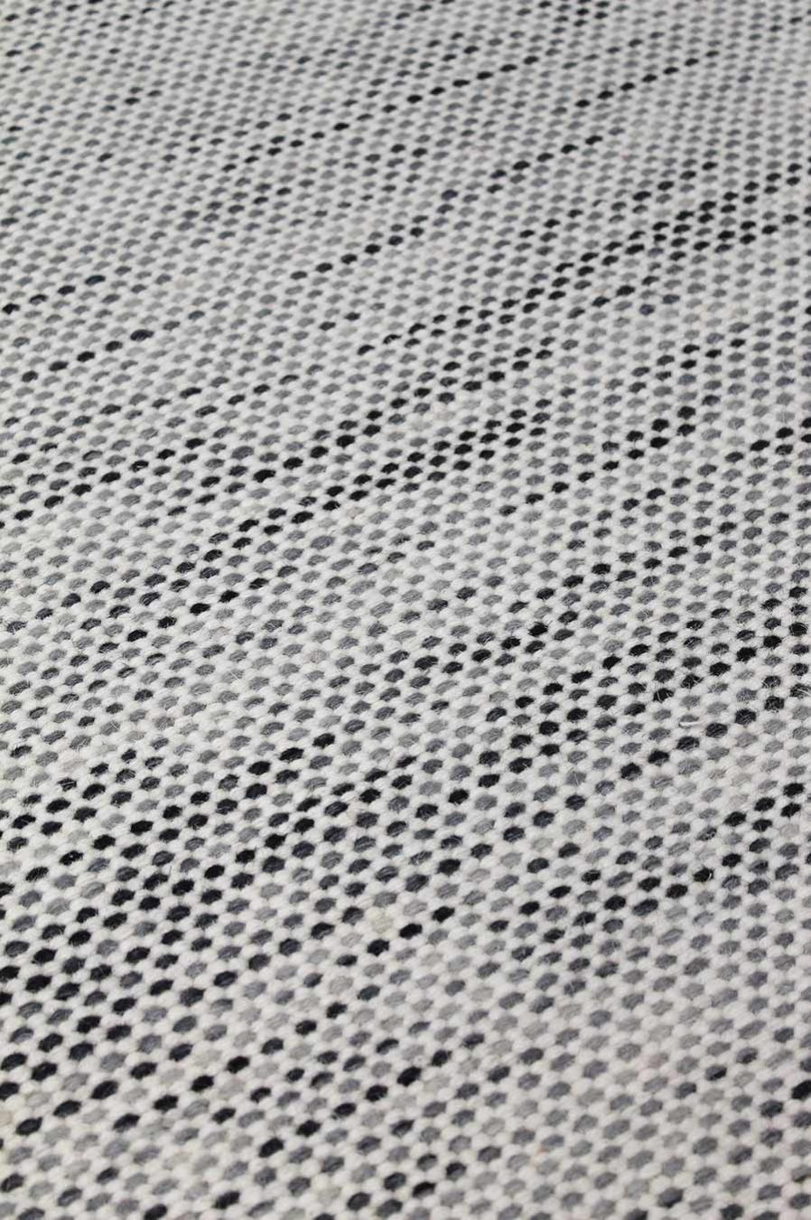 Detailed view of textured Suki rug in light grey colour