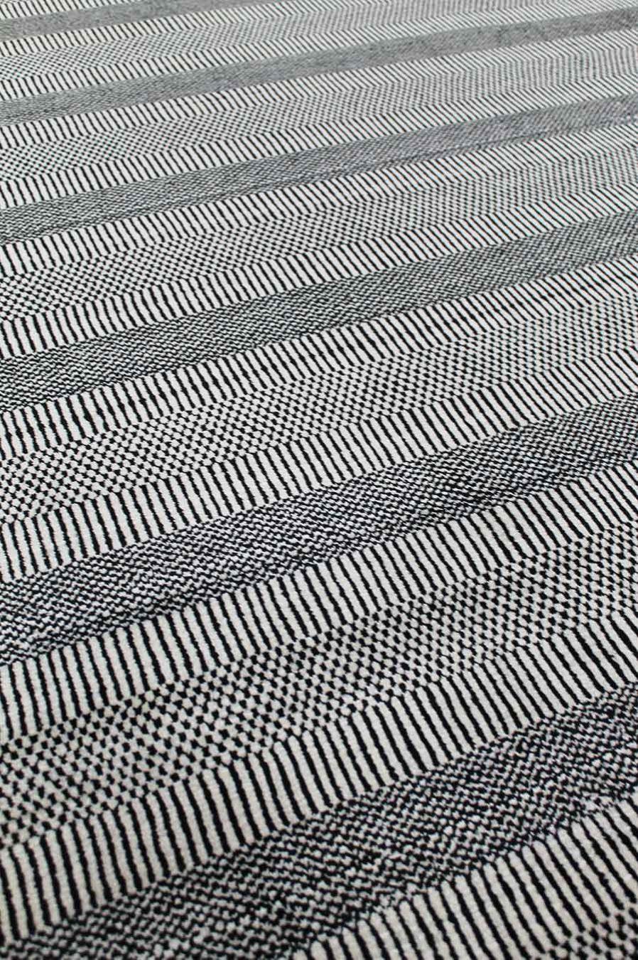 Detailed image of Toronto black and white rug
