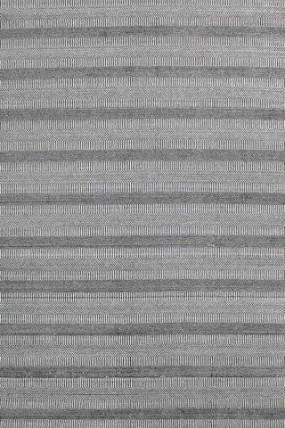 Overhead image of Toronto black and white rug