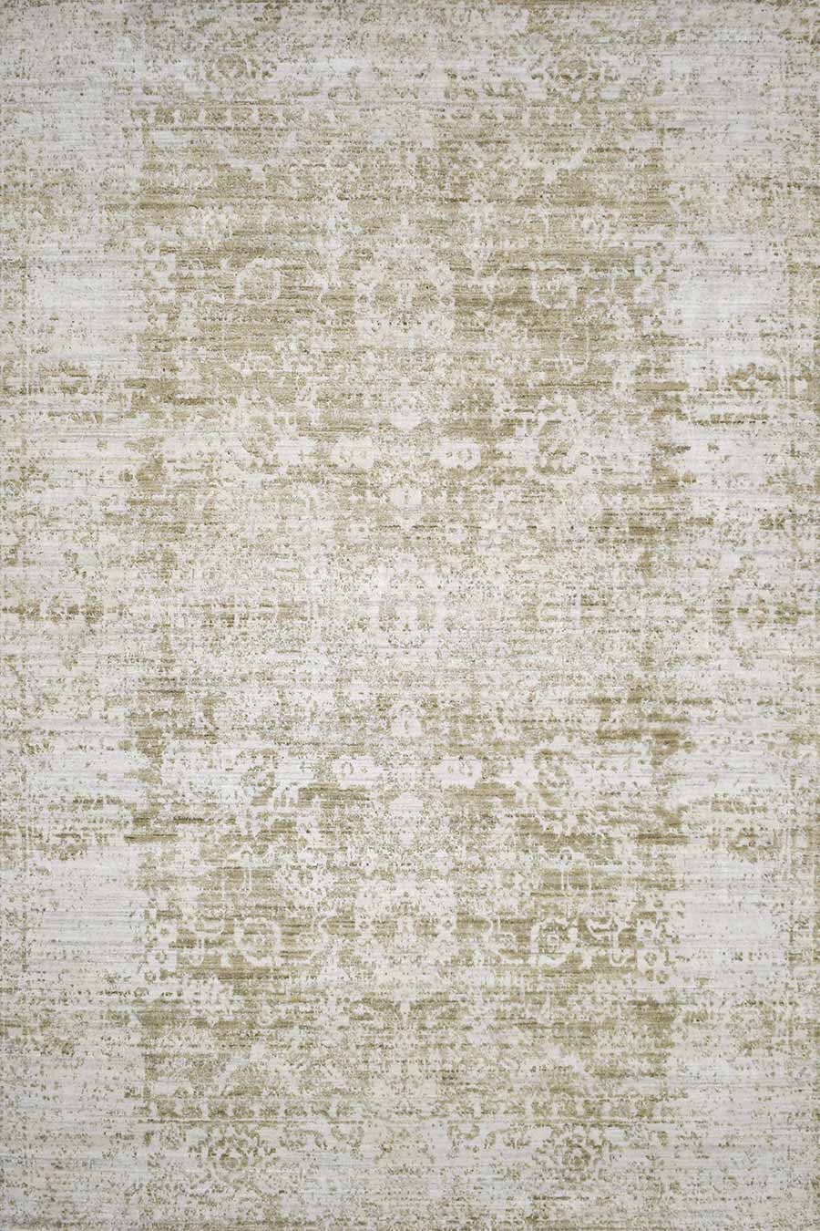 Overhead image of traditional Warwick rug in beige colour