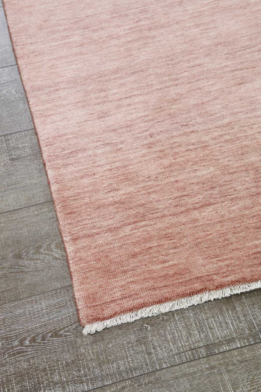 Detailed view of textured Zen rug in pink colour