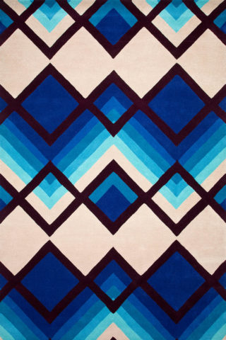 Aqua Ombre blue and beige overhead rug image