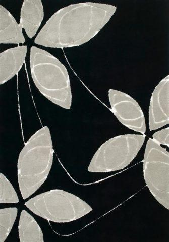 Arctic Daisy Black rug overhead image
