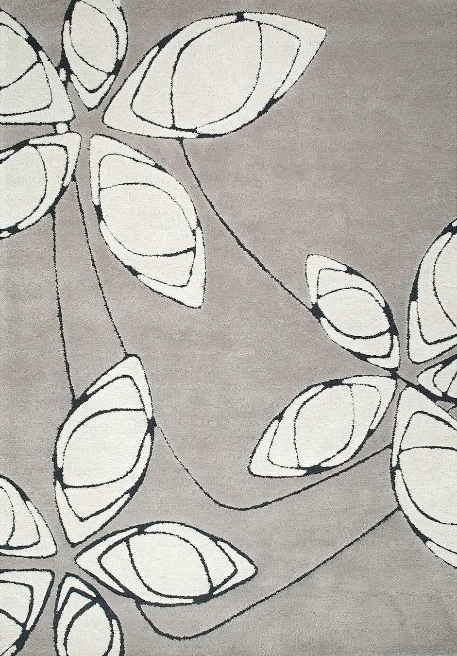 Arctic Daisy Frost rug overhead image
