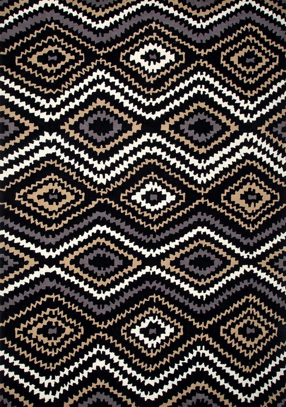 Aztec Summer in Dark Night colourway overhead image