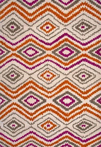 Aztec Summer in Magenta Colourway overhead image