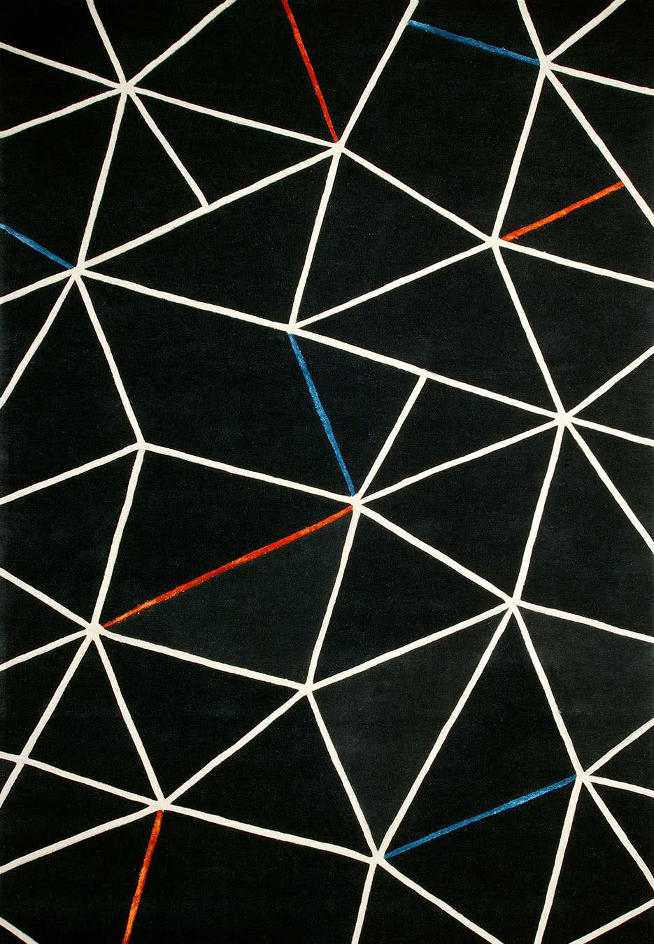Box Kite Rug in Soot colourway overhead image