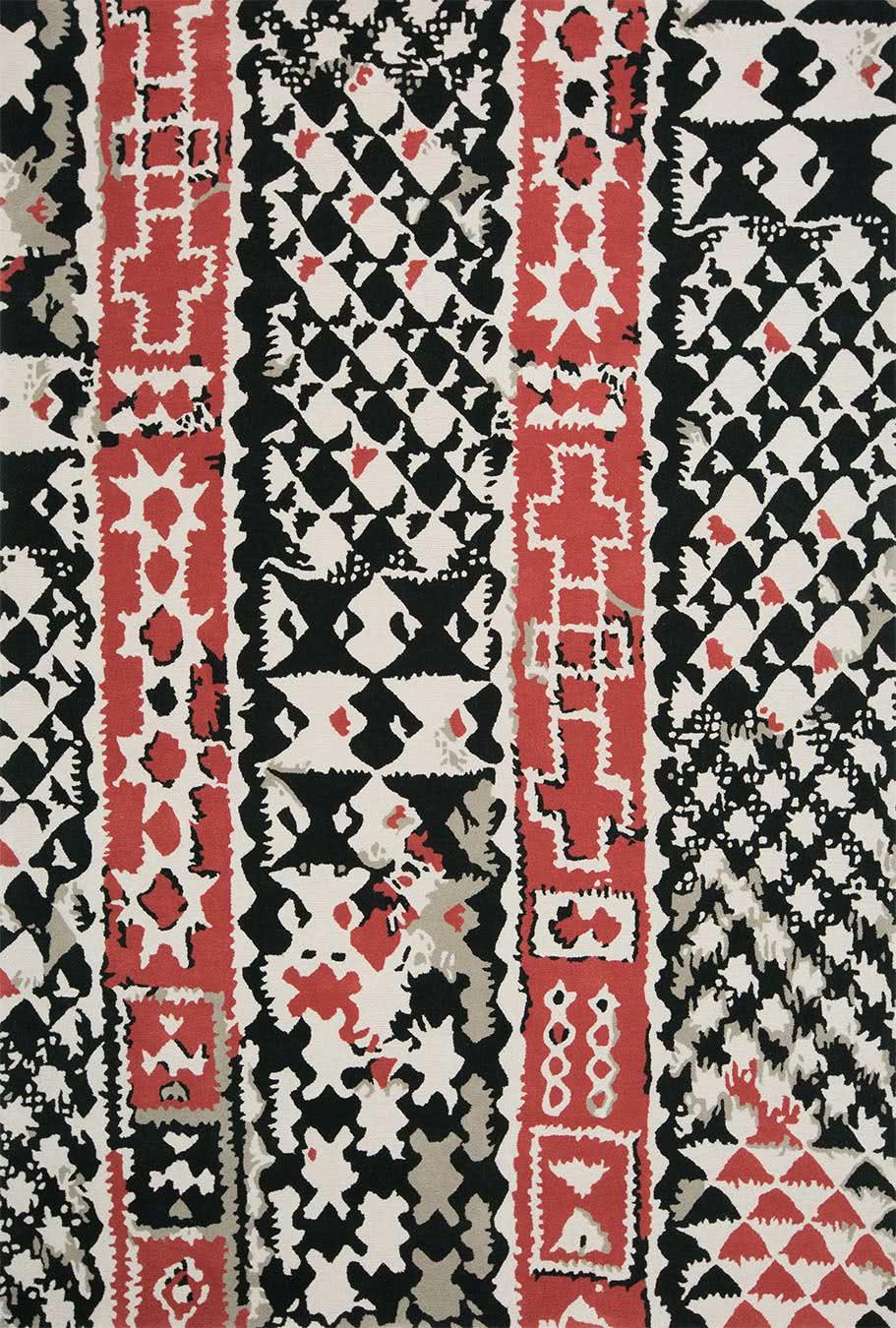Braid rug in Soot colourway overhead image