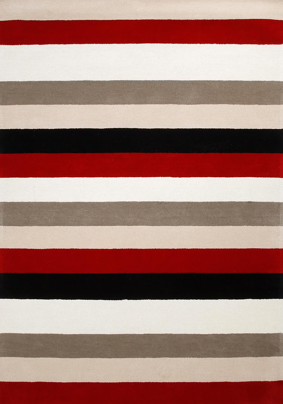 Chicago Stripe rug in red overhead image