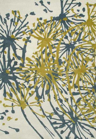 Dandelion rug in ice colour overhead image