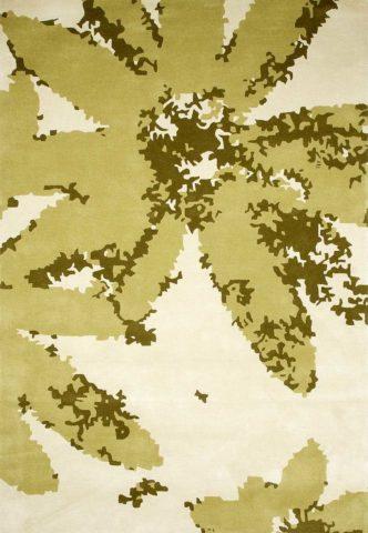 Digi Bloom rug in Moss colour overhead image