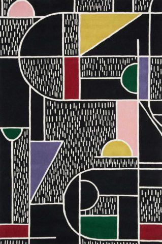 Disembark rug in Dark Night colour overhead image