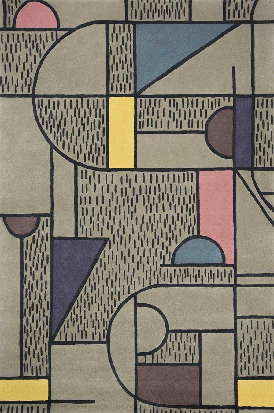 Disembark rug in Silver colourway overhead image