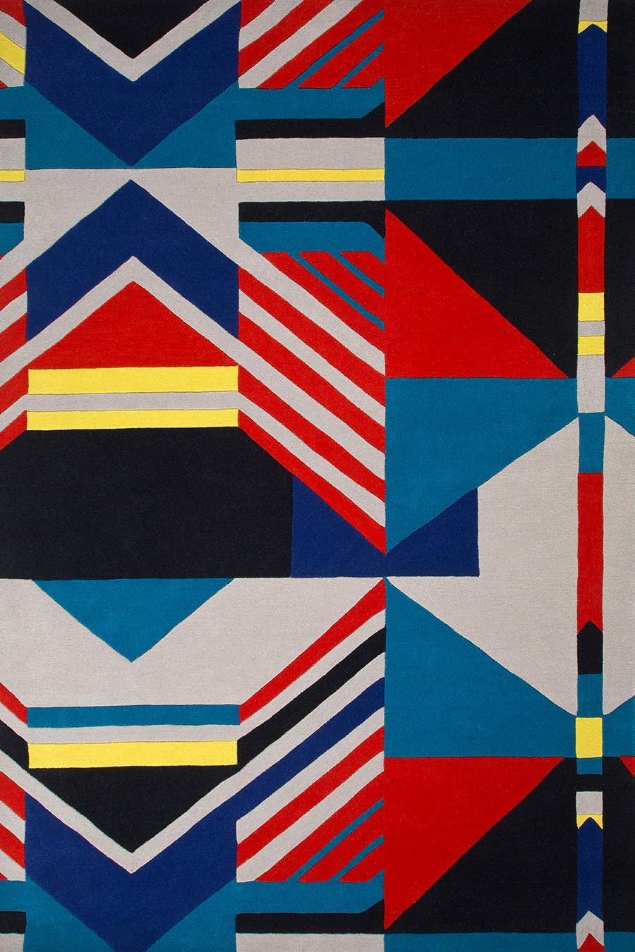 Ethnic in Geometry colourway overhead image