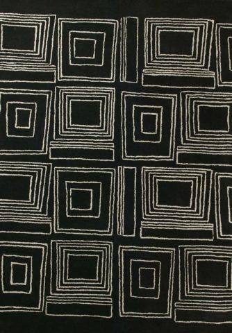 Frames rug in Dark Night colourway overhead